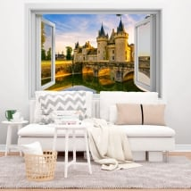 Vinile adesivo Francia castello di Chenonceau 3D