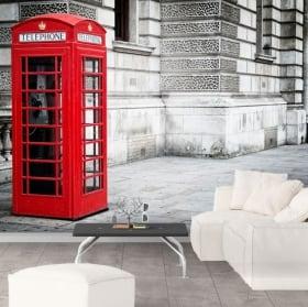 Murales cabina telefonica Inghilterra Londra