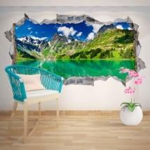 Vinile decorativo lago e montagne innevate 3D