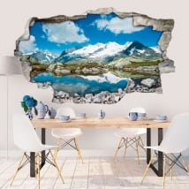 Adesivi murali Alpi svizzere 3D
