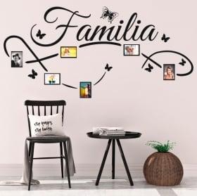Vinile decorativo foto di famiglia