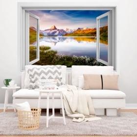 Vinile decorativo lago Bachalpsee Alpi Svizzere 3D