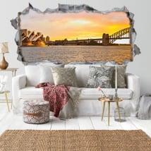Vinili tramonto baia di Sydney 3D