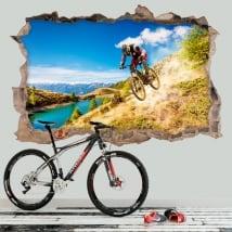 Sticker murale mountain bike 3D