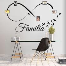 Vinile adesivo infinito foto di famiglia uccelli