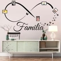 Vinili adesivi infinito foto di famiglia farfalle
