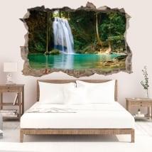 Adesivi murali cascate della Tailandia 3D