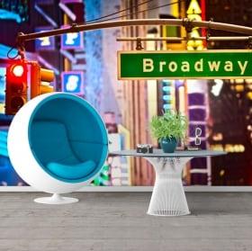 Murales segno di Broadway New York 3D