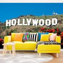 Murales in vinile segno di Hollywood