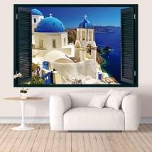 Vinili Grecia Santorini finestra 3D