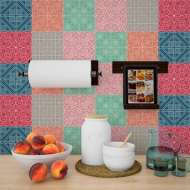Piastrelle in vinile adesivi murali for Adesivi per piastrelle doccia