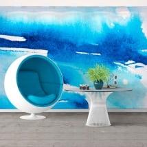 Murales in vinile vernice blu