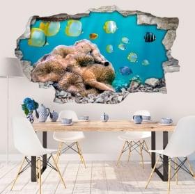 Vinile pareti pescare nel mare 3D