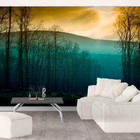 Murales in vinile alberi natura