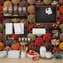 Murales per pareti condimenti cucine