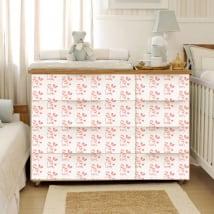 Vinili decorare mobili stanza del bambino