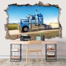 Vinile decorativo muro camion 3d