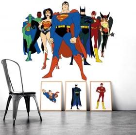 Sticker murale supereroi