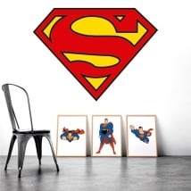 Sticker murale logo superman