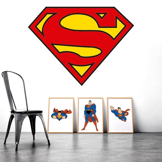 Sticker murale logo superman