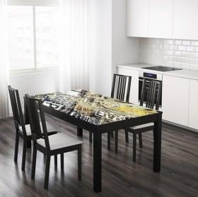 Vinile per tavoli e mobili collage