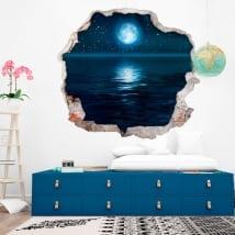 Vinili muri luna stelle e mare 3d