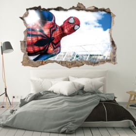 Vinile decorativo muri spiderman 3d