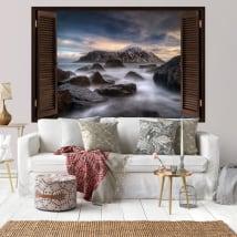 Vinili muri isole lofoten norvegia finestre 3d