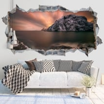 Vinili muri tardo pomeriggio isole lofoten norvegia 3d
