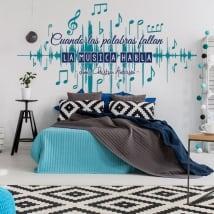 Vinile decorativo muri frasi musicali