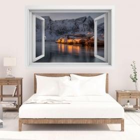 Vinili isole lofoten norvegia finestra 3d