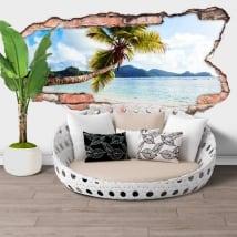 Vinili muri palma isole seychelles buco 3d