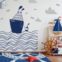 Vinile per bambini barche nel mare