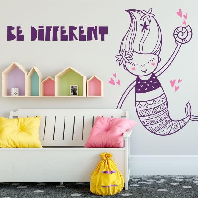 Vinile decorativo muri sirena essere diverso