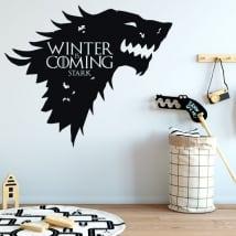 Vinile muri gioco di troni l'inverno sta arrivando rigido