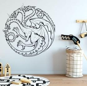 Vinili e adesivi gioco di troni drago