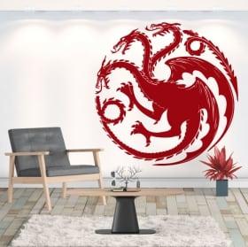 Vinile decorativo drago gioco di troni