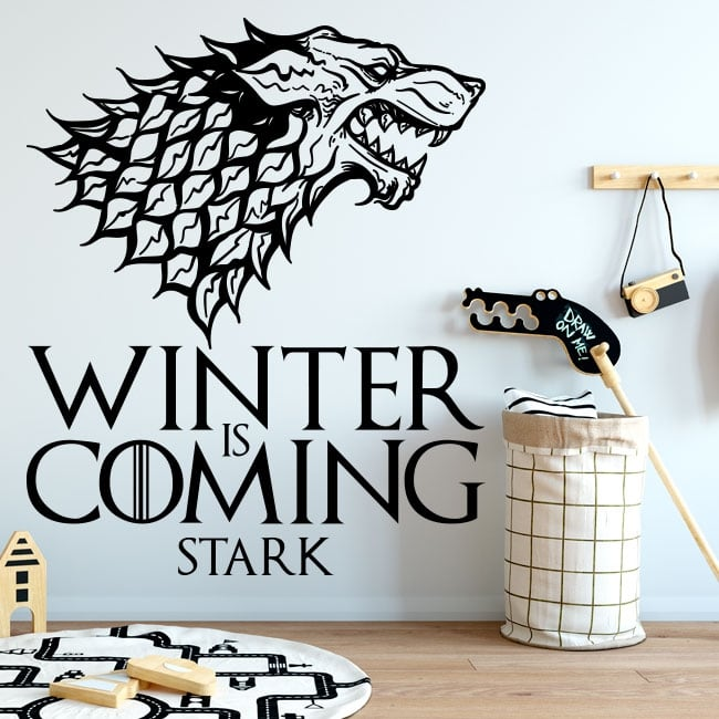 Vinile decorativo gioco di troni l'inverno sta arrivando forte
