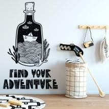 Vinile decorativo sentenza trova la tua avventura