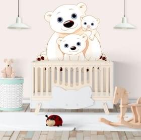 Vinile pareti famiglia orsi per bambini