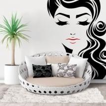 Sticker murale volto di donna