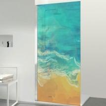 Vinili schermi colori della spiaggia