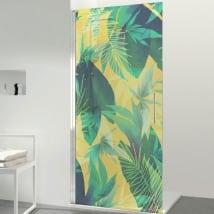 Vinili per schermi bagno color tropicale