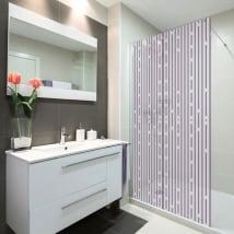 Vinili schermi linee di bagno
