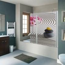 Vinile decorativo pietre zen schermi del bagno