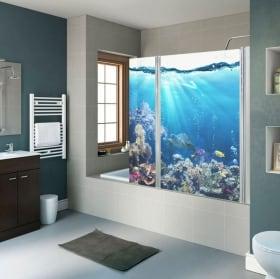 Vinili schermi del bagno mondo marino