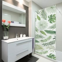 Vinili schermi del bagno lascia la natura