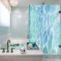 Vinili schermi del bagno colori ad acquerelli