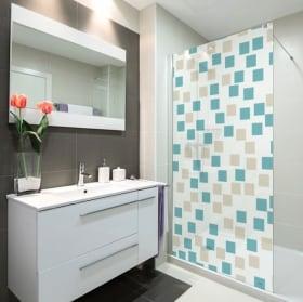 Vinili schermi del bagno quadrati di colori