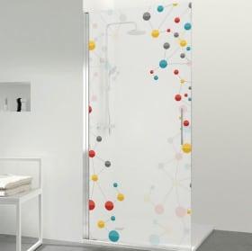 Vinili schermi del bagno molecole